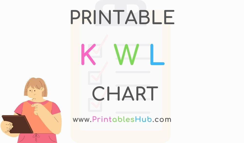 Free Printable KWL Chart [PDF] blank + with lines template for students including kindergarten