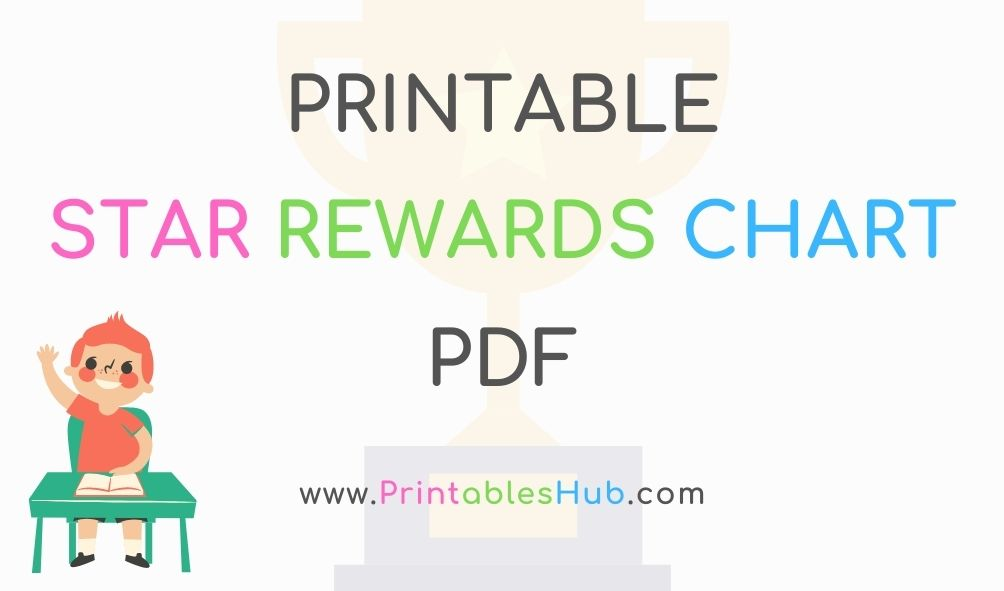 Free Printable Star Weekly Rewards Chart [PDF] with Blank Template Included