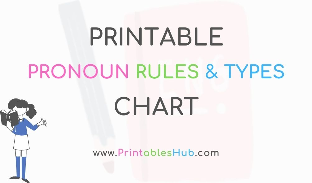 Free Printable Pronoun Types and Rules Chart [PDF]