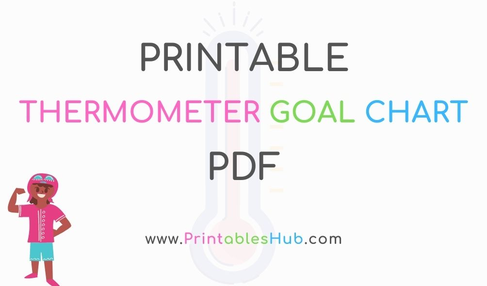 Free Printable Thermometer Goal Chart Template [PDF]
