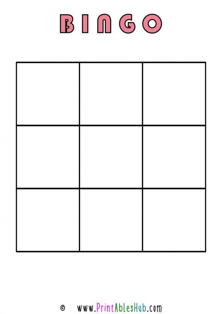 Free Printable 3x3 Blank Bingo Cards [PDF] Single Template