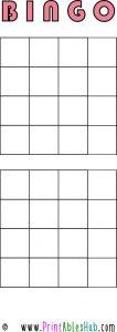 Free Printable 4x4 Blank Bingo Cards [PDF] 2 per page template